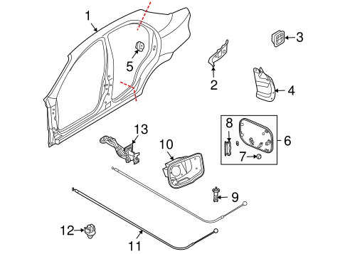 Quarter Panel & Components for 2005 Chevrolet Aveo