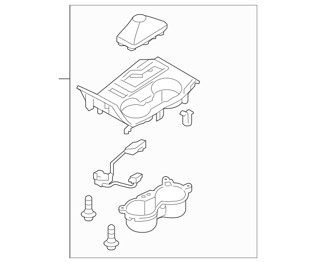 2014-2015 Hyundai Tucson Cover Assembly-console Upr 84650