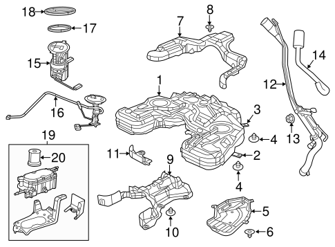 Fuel System Components for 2015 Jeep Grand Cherokee