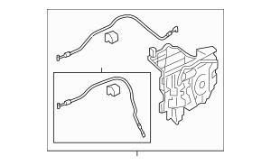 2005-2010 Honda ODYSSEY 5-DOOR Latch Assembly, L Slide