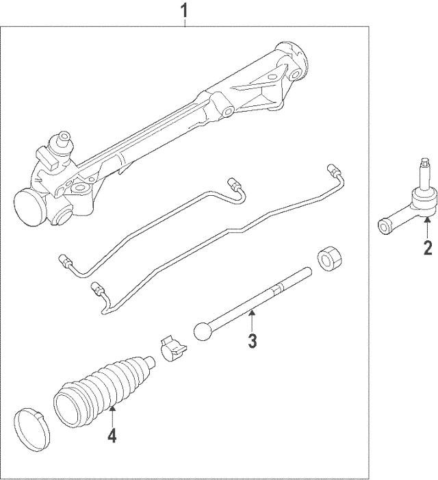 Genuine OEM 2010-2012 Ford Fusion Steering Gear AE5Z-3504
