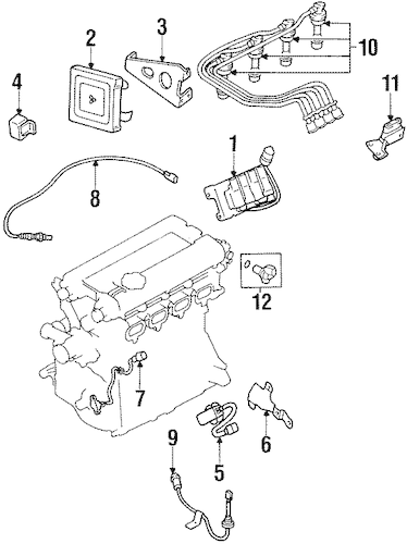 IGNITION SYSTEM for 1996 Mitsubishi Eclipse