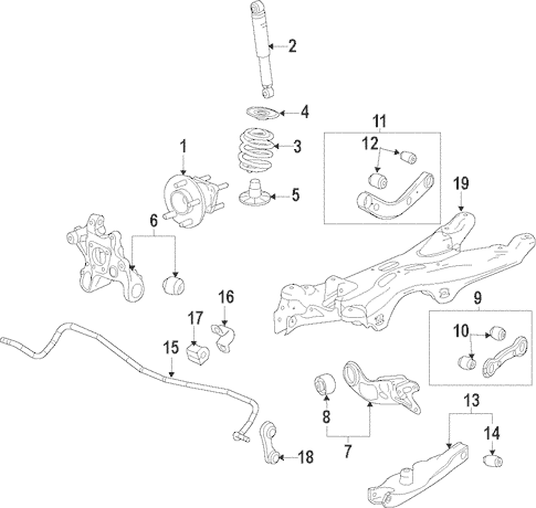 OEM 2013 Chevrolet Malibu Rear Suspension Parts
