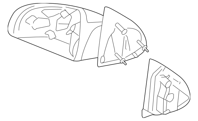 2005-2010 Chevrolet Cobalt Mirror Assembly 25831895