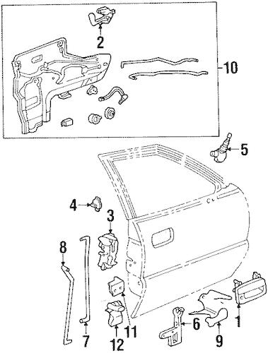 OEM 1994 Pontiac Bonneville Front Door Parts