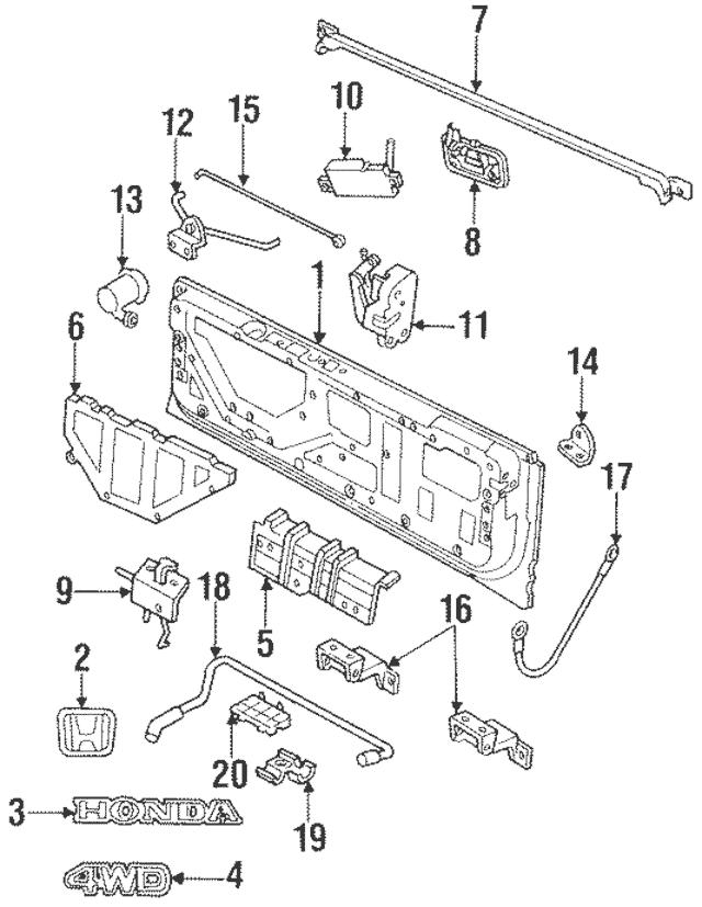 1994-1995 Honda Passport Cylinder Assembly (W/Key) 8-97101