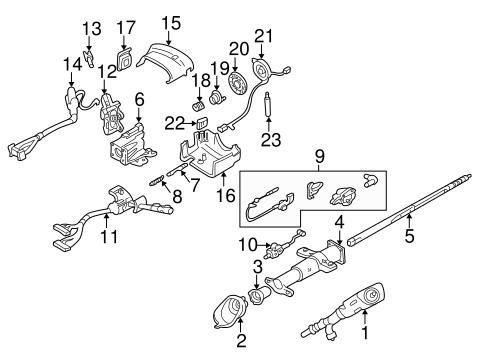 OEM 2003 Chevrolet Astro Ignition Lock Parts