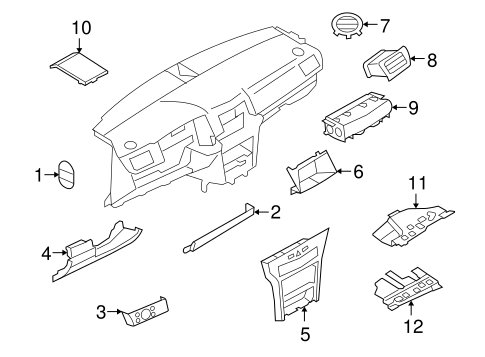 Instrument Panel Components for 2008 Saturn Astra