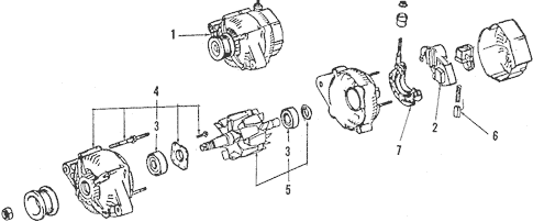 Genuine OEM Alternator Parts for 1997 Toyota Celica GT