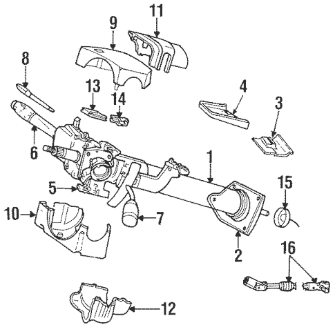 Steering Column Assembly for 1999 Dodge Ram 2500