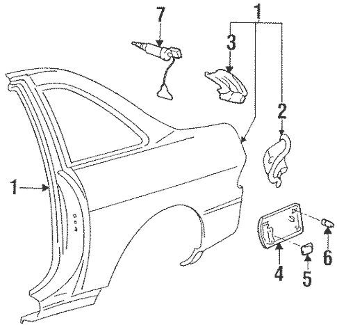 Quarter Panel & Components for 1997 Lexus SC300