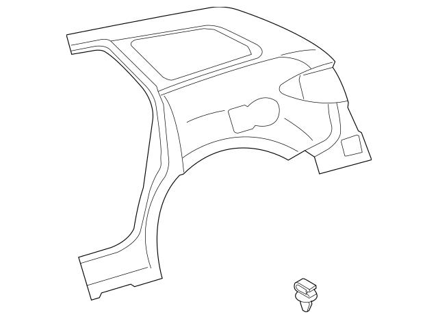 2007-2012 Mazda CX-7 Quarter Panel EGY1-71-410C