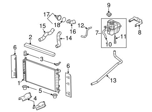 Radiator & Components for 2004 Chevrolet Malibu (Maxx LS