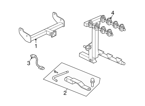 TRAILER HITCH COMPONENTS for 2006 Saturn Vue