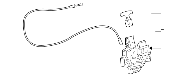 2018-2019 Toyota Camry Lock Assembly 64600-06070