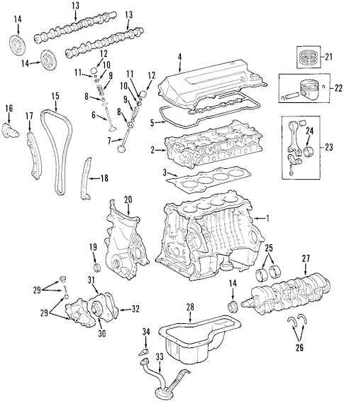 1970 toyota land cruiser wiring diagram standard relay genuine oem engine parts for 2001 corolla ce - olathe center
