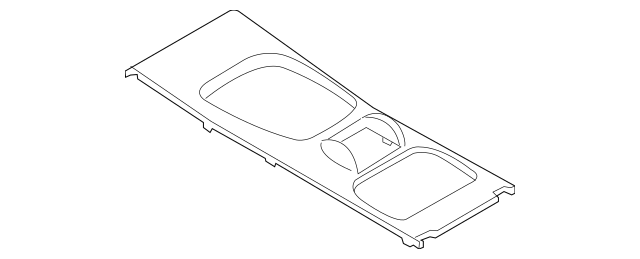 2003-2010 Porsche Cayenne Trim Plate 955-552-280-03-5Z1
