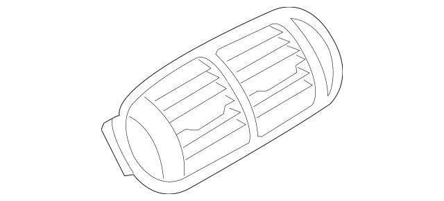 2003-2010 Porsche Cayenne Air Deflector 955-552-203-03-A03