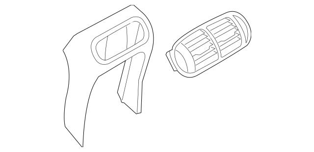 2003-2010 Porsche Cayenne End Cap 955-552-499-00-8G1