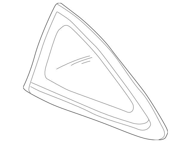 1996-2001 Acura INTEGRA HATCHBACK Glass, L Quarter (Green