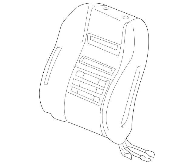 Honda Pad, R Front Seat-Back (With Opds Sensor) (81127-TM8