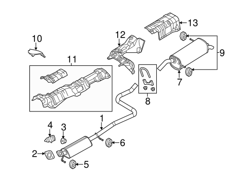 Exhaust Components for 2015 Ford Fiesta