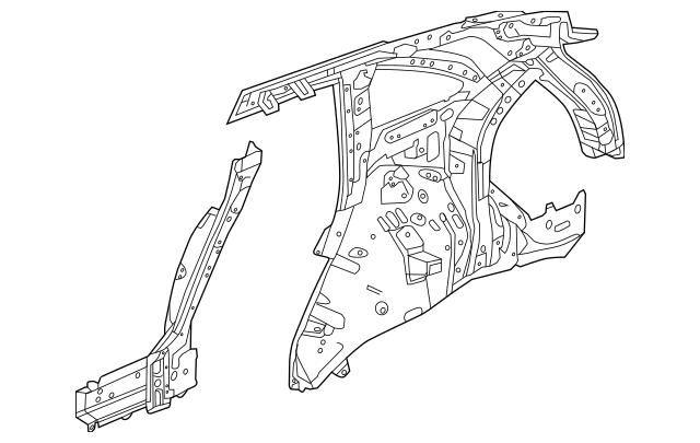 2017-2020 Acura MDX 5-DOOR Panel, R Rear Inside 64300-TZ5