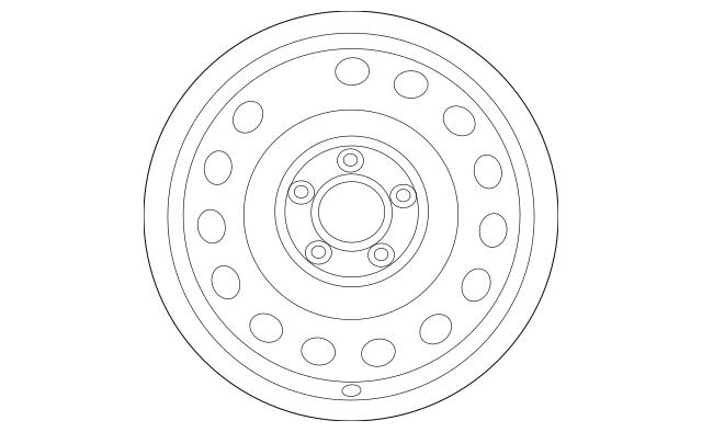 Genuine OEM Wheel, Steel Part# 52910-1M060 Fits 2010-2013