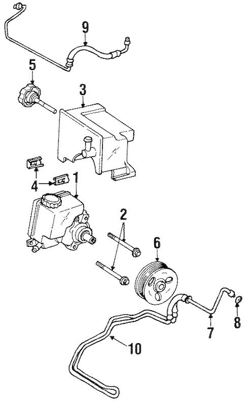 Chevrolet Lumina Power Steering Pump Bolt 1998 1999