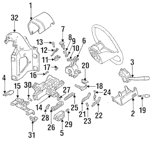 Steering Column Components for 1995 Ford F-250