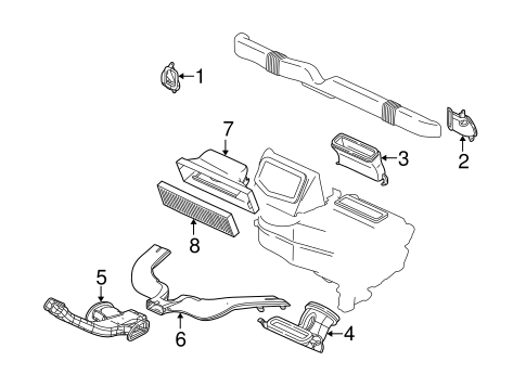 OEM 2005 Chevrolet Equinox Blower Motor & Fan Parts