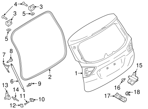 GATE & HARDWARE for 2013 Ford C-Max
