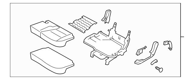 2014-2015 Kia Sorento Cushion Assembly 89100-1U820LAC