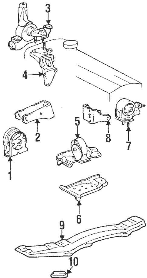 Genuine OEM Engine & Trans Mounting Parts for 1994 Toyota