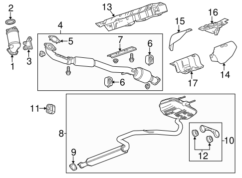 Exhaust Components for 2014 Chevrolet Malibu