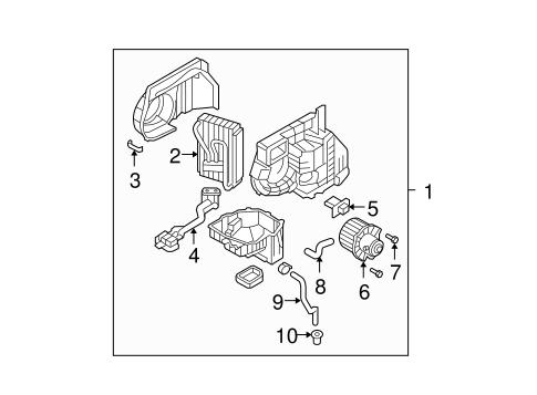 Condenser, Compressor & Lines for 2009 Hyundai Santa Fe