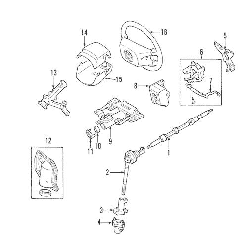 Genuine OEM Steering Column Parts for 2002 Toyota Sequoia