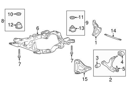 OEM 2011 Chevrolet Equinox Suspension Components Parts