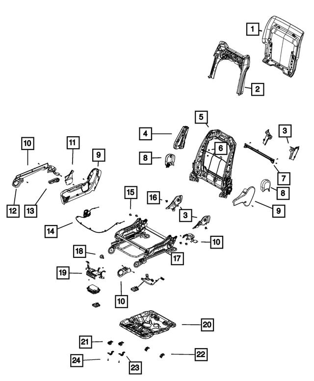 2014-2017 Jeep Grand Cherokee Seat Riser Shield, Right
