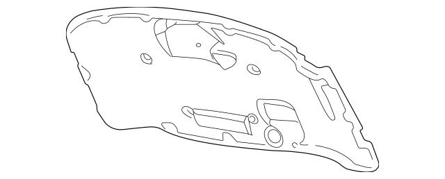 2001-2005 Volkswagen Passat Insulator Pad 3B0-863-835-K