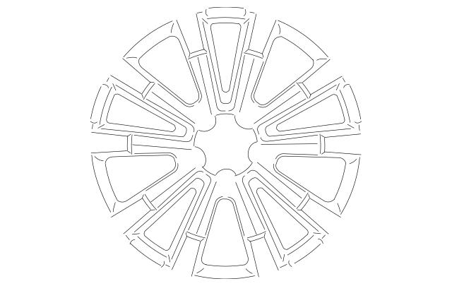 Mopar Wheel, Alloy 2015-2019 Chrysler 300 5PQ12NTSAB