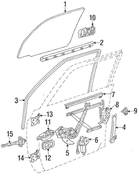 Genuine OEM Door Parts for 1994 Toyota Land Cruiser Base