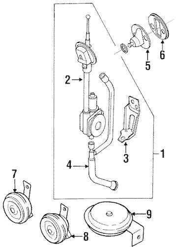 1989-1996 Nissan 240SX 300ZX Maxima Stanza Power Antenna