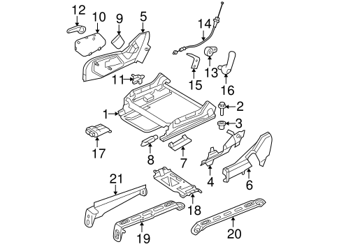 Air Bag Components for 2008 Jeep Grand Cherokee Parts