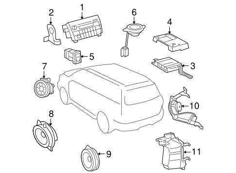 Genuine OEM Sound System Parts for 2008 Toyota Sequoia SR5
