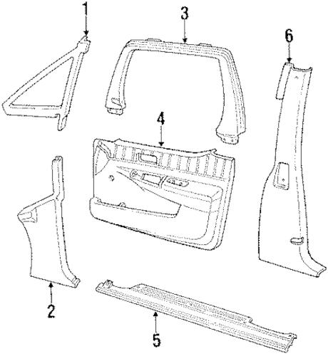OEM 1991 Chevrolet Lumina APV Interior Trim Parts