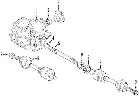 Axle Shafts & Joints for 2008 Mercedes-Benz C 300