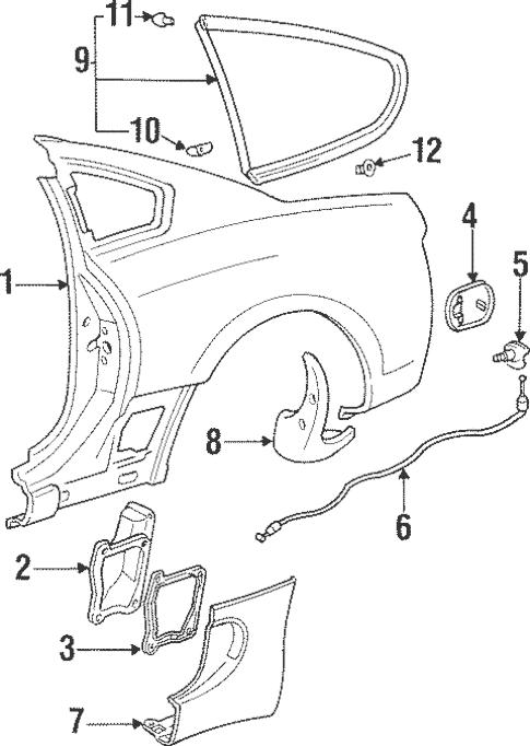 Quarter Panel & Components for 1998 Toyota Supra