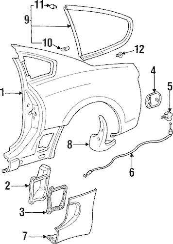 Fuel Door for 1995 Toyota Supra