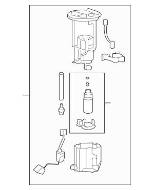 2008-2009 Pontiac G8 Fuel Pump Assembly 92203242